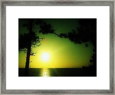 Galician Green Sunset 2 Framed Print by Xoanxo Cespon