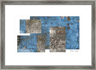Galician Weathered Wall Framed Print by Xoanxo Cespon