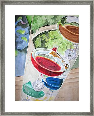Galileo Thermometer Framed Print by Mary Kay Holladay
