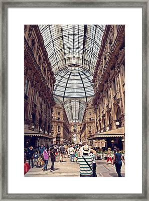 Galleria Vittorio Emanuele Framed Print by Benjamin Matthijs