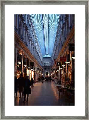Gallery By Evening Framed Print by Lee Versluis