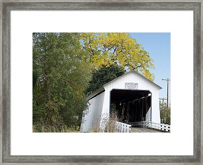 Gallon House Bridge Framed Print