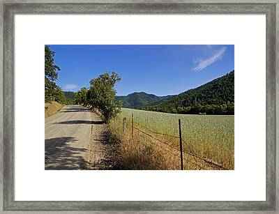Galls Creek Road In Southern Oregon Framed Print by Mick Anderson