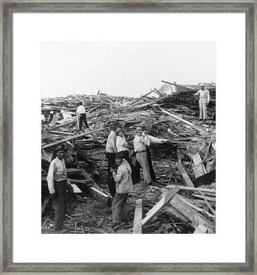 Galveston Disaster - C 1900 Framed Print by International  Images