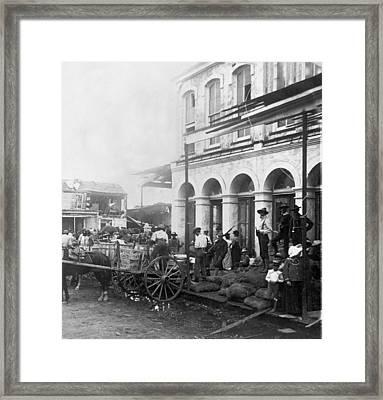 Galveston Flood - September - 1900 Framed Print by International  Images