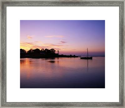 Galway Bay, Co Galway, Ireland Sunset Framed Print