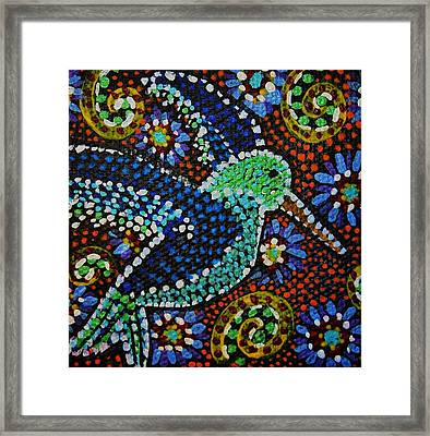 Gamas Humming Bird Framed Print