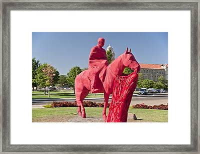 Game Day At Texas Tech Framed Print