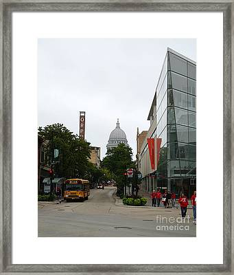 Game Day In Madison Framed Print by David Bearden