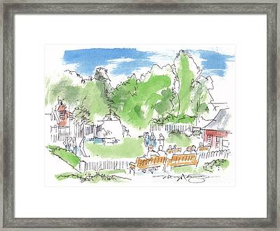 Game In An English Village Framed Print