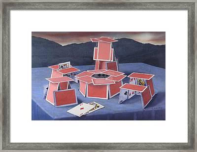 Game Of Cards  Framed Print by Glen Heberling
