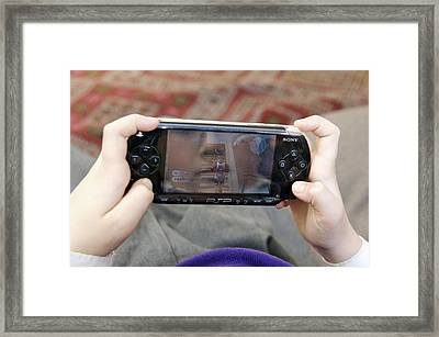 Games Console Framed Print by Johnny Greig