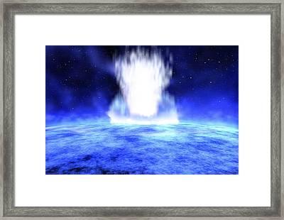 Gamma Ray Burst Eruption Framed Print by Nasa