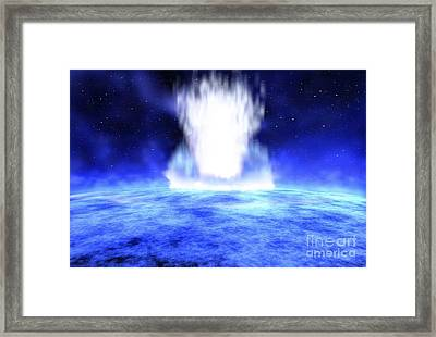 Gamma Ray Burst Erupts From Star Framed Print by NASA / Science Source