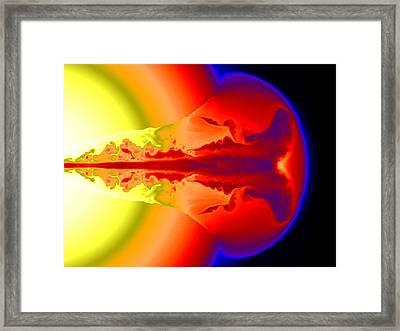 Gamma Ray Burst Formation Framed Print
