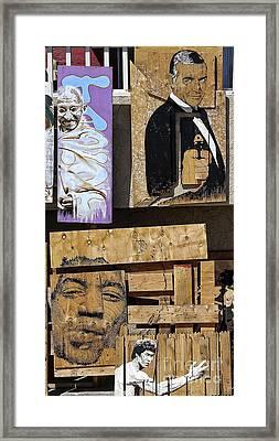 Gandhi Bond Jimmy Lee Framed Print by Chuck Kuhn
