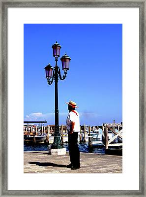 Gandola Captain Framed Print
