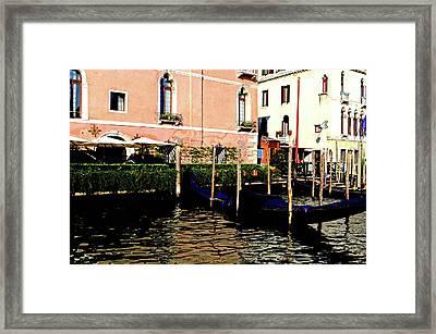 Gandola Docking Framed Print