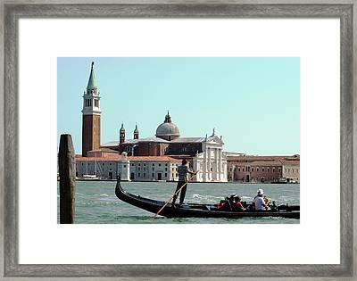 Gandola Rides In Venice Framed Print