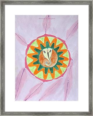 Ganesh Mandala Framed Print