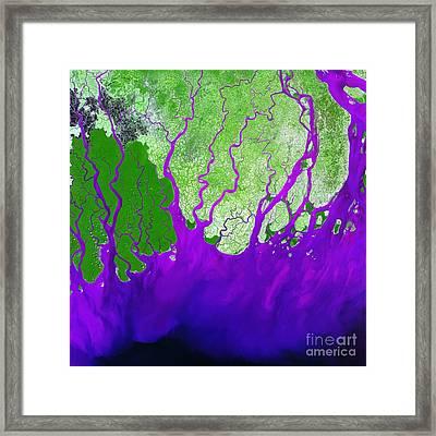 Ganges Delta Framed Print by NASA / Science Source