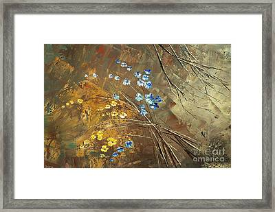 Framed Print featuring the painting Garage Band Split-up by Tatiana Iliina