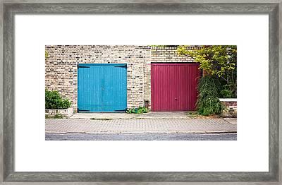 Garage Doors Framed Print