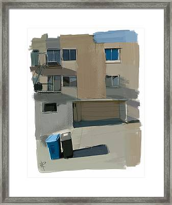 Garbage Day On Dolores Street Framed Print by Russell Pierce