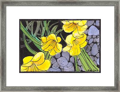 Framed Print featuring the painting Garden by Ana Tirolese