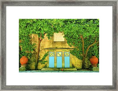 Garden At Scripps College Framed Print by Steven Ainsworth