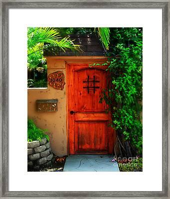 Garden Doorway Framed Print by Perry Webster