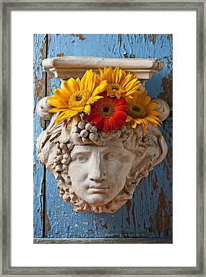 Garden Face Framed Print