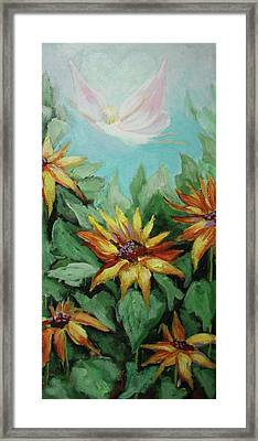 Framed Print featuring the painting Garden Fairy by Jan Swaren