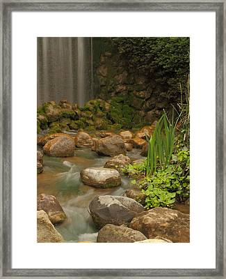 Framed Print featuring the photograph Garden Falls by Coby Cooper