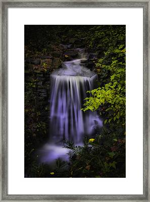 Framed Print featuring the photograph Garden Falls by Lynne Jenkins