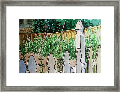 Garden Fence Sketchbook Project Down My Street Framed Print by Irina Sztukowski