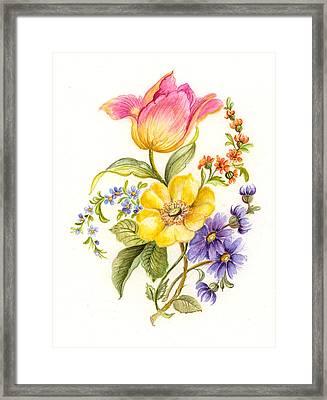 Garden Flowers 1 Framed Print by Suzanne  Gebhardt