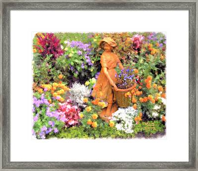 Garden Girl Framed Print by Richard Stevens