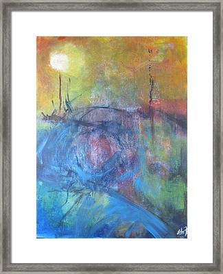 Framed Print featuring the painting Garden Illusion by John Fish