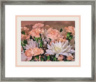 Garden In A Frame Framed Print by Marsha Heiken