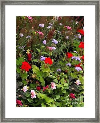 Garden In Creamery Framed Print