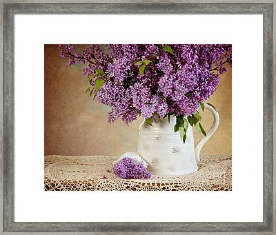 Framed Print featuring the photograph Garden Lilac by Cheryl Davis