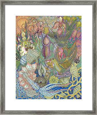 Garden Of Eden - Birds Framed Print