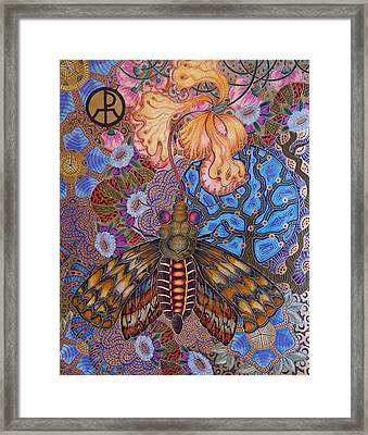 Garden Of Eden - Moth Framed Print