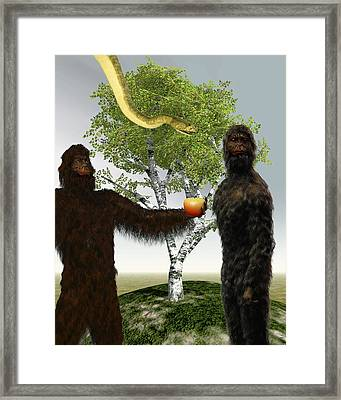 Garden Of Eden, Computer Artwork Framed Print by Christian Darkin
