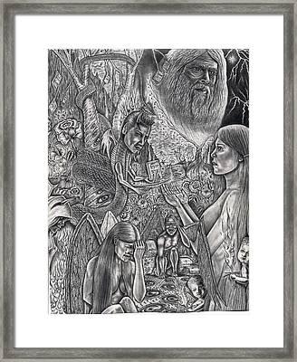 Garden Of Eden Framed Print by Vincnt Clark
