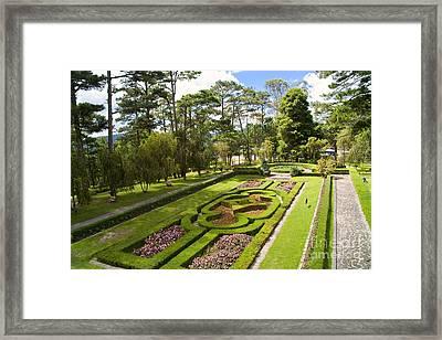 Garden Of Emperor Bao Dais Summer Palace Framed Print by David Buffington