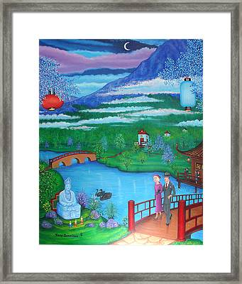 Garden Of Enlightenment Framed Print by Tracy Dennison