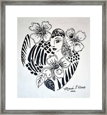 Garden Of Eve Framed Print by Maria Urso