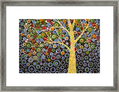 Garden Of Moons #1 Framed Print by Amy Giacomelli